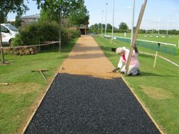 Installing special path at Saracens Rugby ground