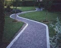 A Winding Golf Course Path