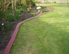 Brick Red Eurostyle Edging with Charcoal Imprint