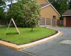 Eurobrick Curving Golden Sandstone Edging to Match the Shape of the Garden