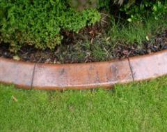 A Close Up of a Glossed Finished Terracotta Edge
