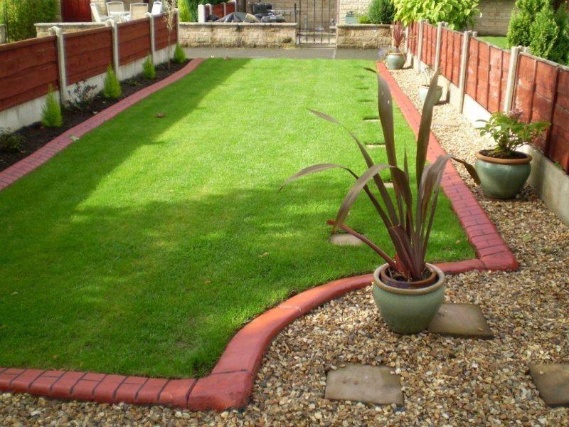 brick garden edging. eurostyle brick red slurried edge with dark brown imprint garden edging