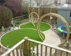 A Great Artificial Grass with a themed Garden in Suffolk