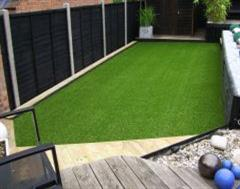 An Updated Artificial Grass Garden Set Up.