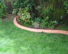 A Eurobrick Light Terracotta Lawn Edging