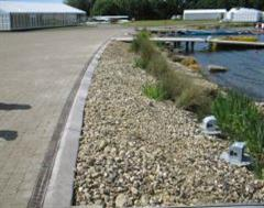 Exposed Aggregate Edging at Eton Rowing Club - Venue for the Olympics