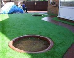 Eurobrick Edging with Artificial Grass