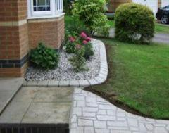 Stencil concrete and matching Eurobrick edging