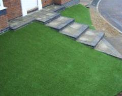 Artificial Grass on a sloping front