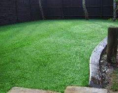 Artificial Grass and Eurostle edging at Kinsoe Leys, MK