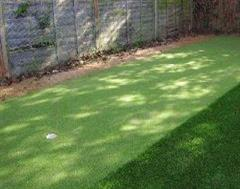 A closer look at the putting surface on this artificial grass installation