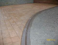 A lovely combination of Eurostyle Edging and Imprinted Concrete
