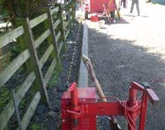 Look how straight this machine laid commercial kerbing is.