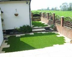 Another view of this delicate Artificial Grass job