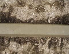A Smooth Exposed Aggregate Kerb