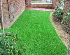 Another view of Artificial Grass and Stencil Concrete