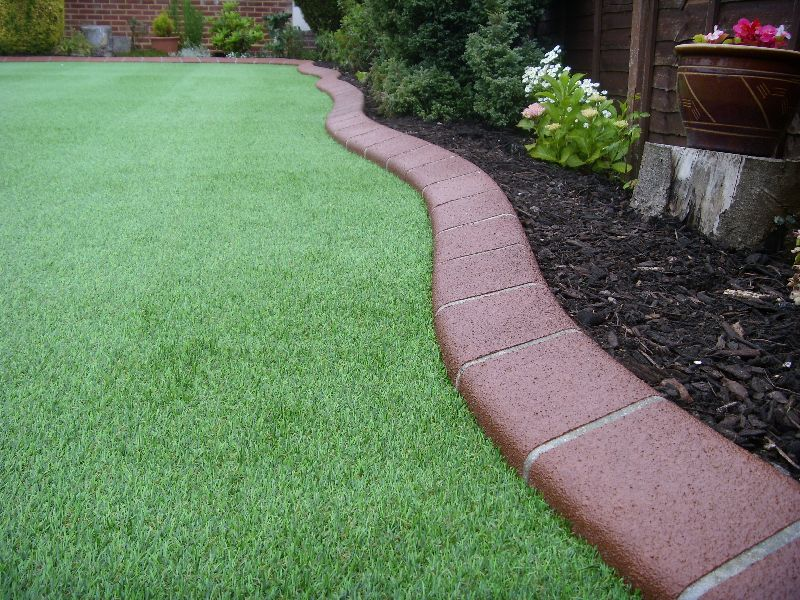 Examples of our previous lawn edging driveway edging and for Garden edging
