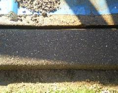 Close up sample of Exposed Aggregate Kerbing