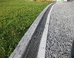 Kwik Kerb edging including drianage system