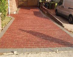 A stencilled Driveway in Cambridgeshire