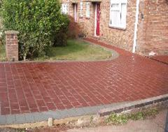 Another view of this Stencilled Driveway