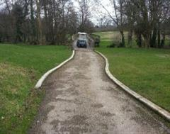 Golf Buggy Cart Kerb Edging at The Grove Golf Club