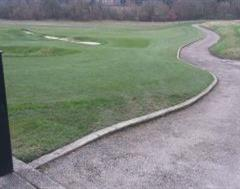 Miandering Golf Course Path Edging at The Grove