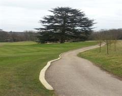 Golf Course Kerbing following the contours