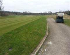 Kwik Kerb Edging around the tees at The Grove Golf Club