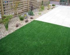 Artificial Grass defining the patio area