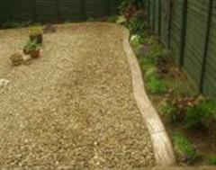 Eurostyle Rustic Wood Effect Flowerbed